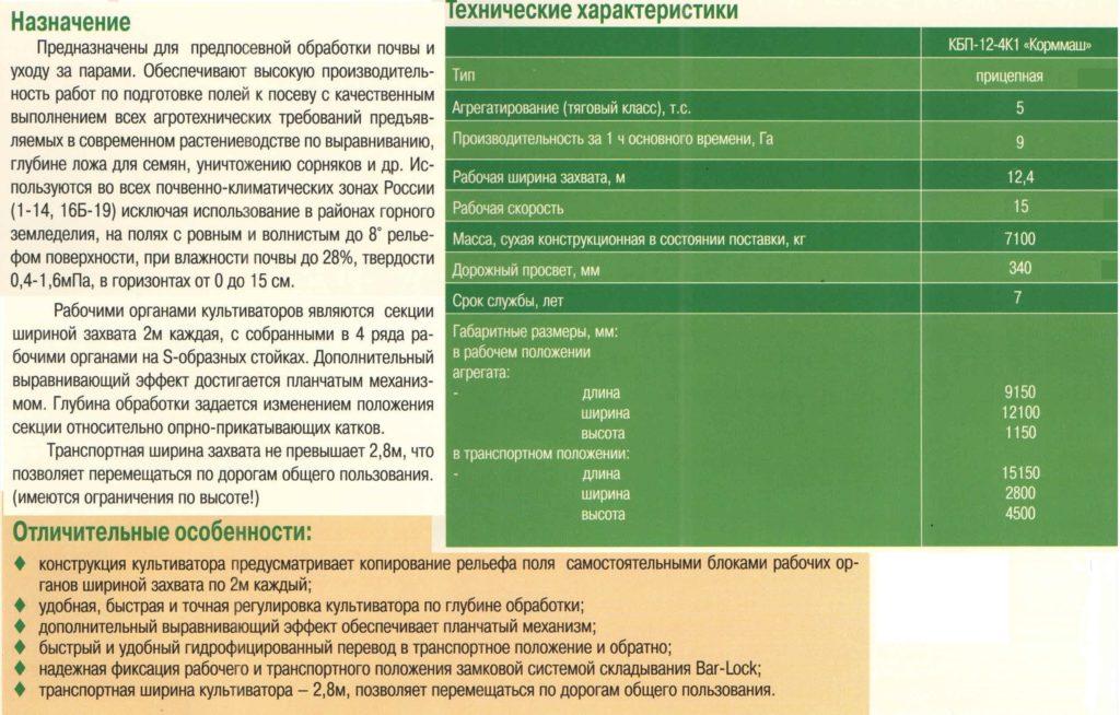 Культиватор для сплошной обработки почвы блочный КБП-12